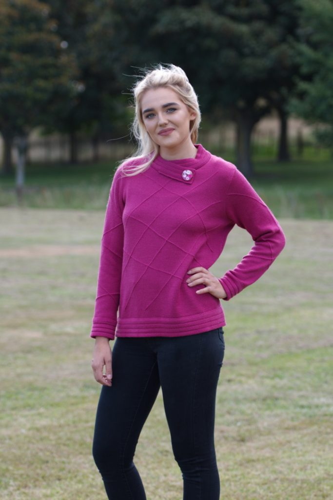 woman's-knitwear-W3b-merino-double-stitched-detail jumper-buttoned-collar-$160