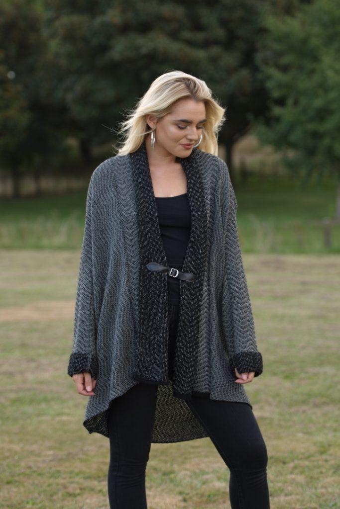 woman's-knitwear merino acrylic kimino style